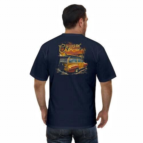 woody wagon beach cruiser graphic t shirt