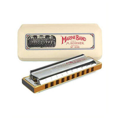 Hohner Marine Band 1896 Harmonica - Key Of C. Pro Quality At A Sensible Price.