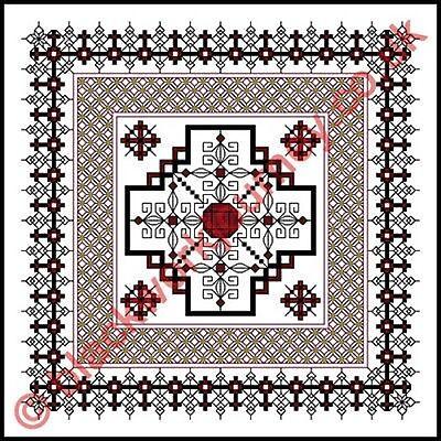 50% Off Blackwork Journey X-stitch Chart - Rubies