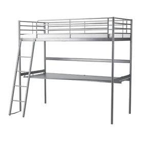 Ikea Svarta Loft Bed with Desk - No Mattress