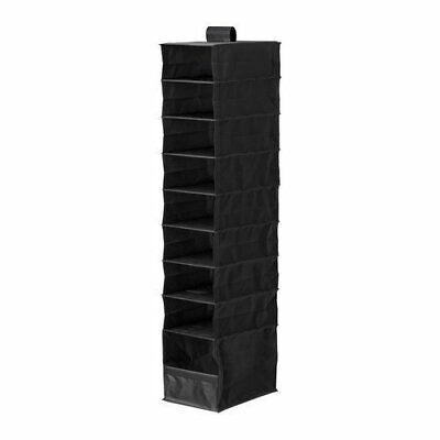 Ikea Skubb Black Hanging Clothes/Shoes Closet Organizer 9 compartments New