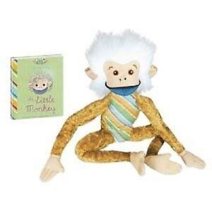 Little-Monkey-11-inch-with-Book-plush-NEW-by-YoTToY