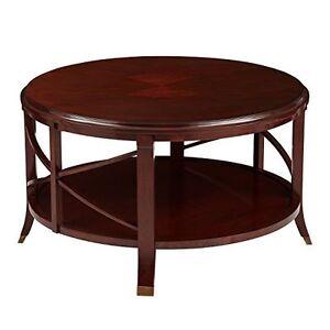 Coffee Table Bombay Pavilion Antique Mahogany Brass Feet