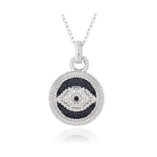 diamond evil eye necklace ebay. Black Bedroom Furniture Sets. Home Design Ideas