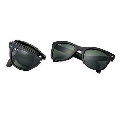 Sonnenbrille Ray-ban RB4105 901S Wayfarer Folding.Schwarz Brillengläser Grün