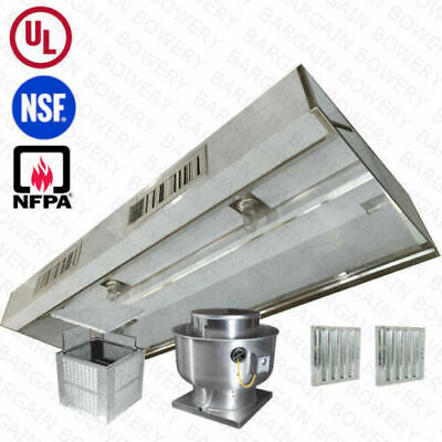 11 Ft Ul Restaurant Commercial Kitchen Makeup Air Hood Captiveaire System