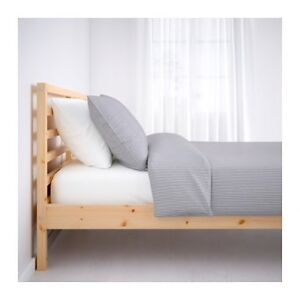 Full/Double IKEA TARVA Bed Frame with Lönset Base