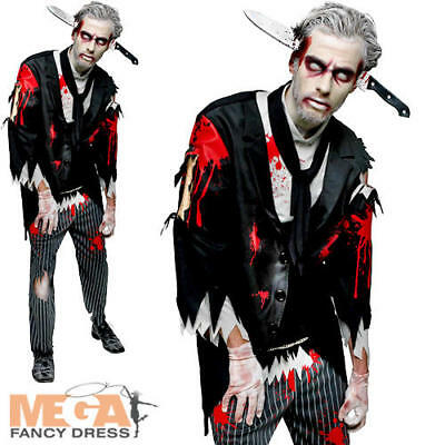 Mens Fancy Dress Halloween Horror Adults Costume Outfit New (Halloween Butler)