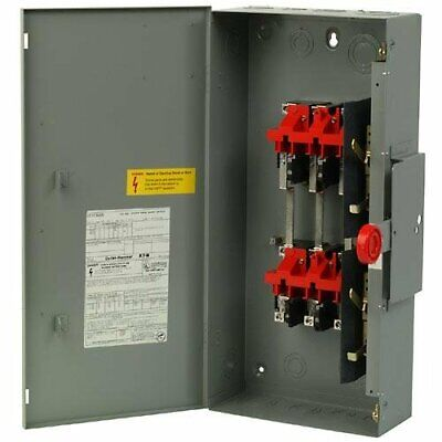 Eaton Double Throw 100 Amp Safety Switch Dt323urk 3p 240vac250vdc New