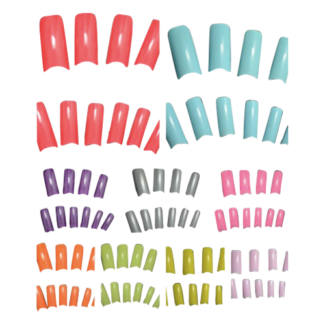 Variety of Coloured Acrylic Nail Tips - Tray of 100 tips Rocklea Brisbane South West Preview