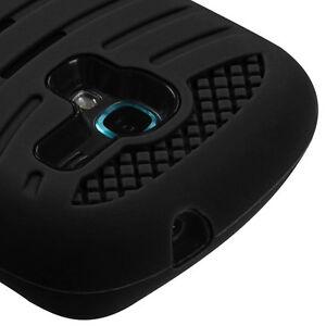 black kickstand hard amp soft silicone impact case samsung