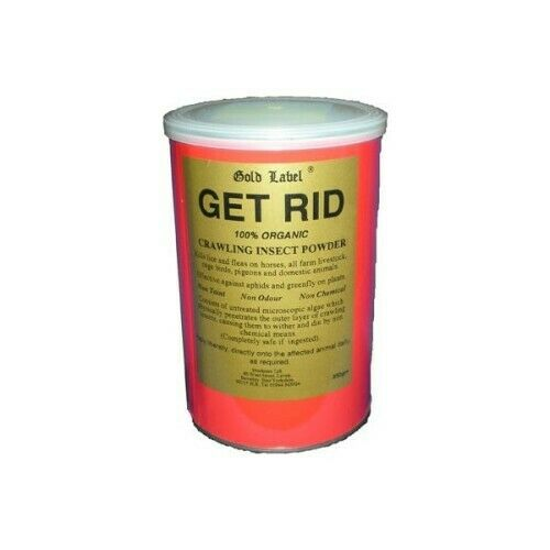 Gold Label Get Rid 350g organic powder that rids lice and fleas from horses and