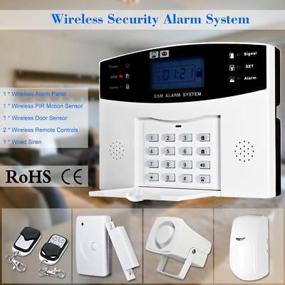 Wireless GSM SMS Einbrecher Sicherheit Alarm System Detektor Sensor Kit L7M9