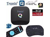 NEWEST 2017 Q-Box Android 6.0 TV Box KODI 17.3 Media Player KODI BOX 2+16GB 5Ghz WIFI +Mini Keyboard