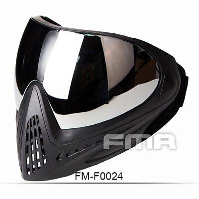 - FMA Tactical Anti-fog Goggle Paintball Full Face Mask Single Layer Mirror F0024