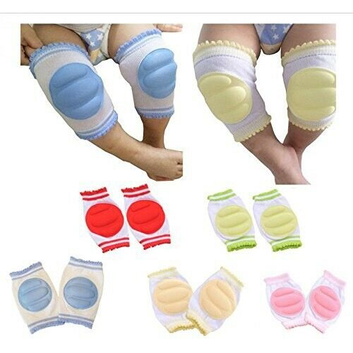 Baby And Kids Infant Knee Protector Knee Pads 5 Color Rainbow Set