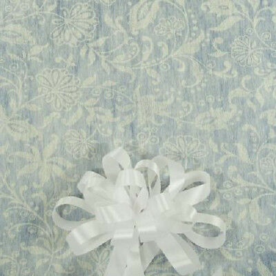 50' Ivory Floral Lace Print  Wedding Aisle Runner W/Tape&Rope