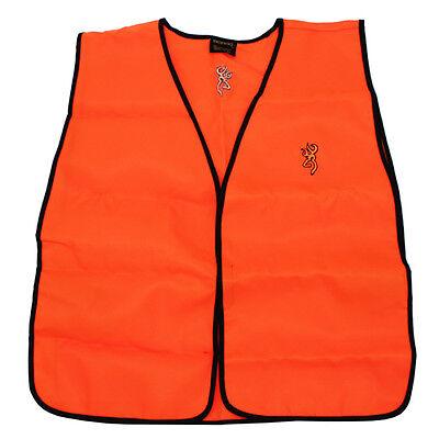 Browning Hunting Vest Blaze Orange Outdoor Hunter Safety Gear 30851501X1 *