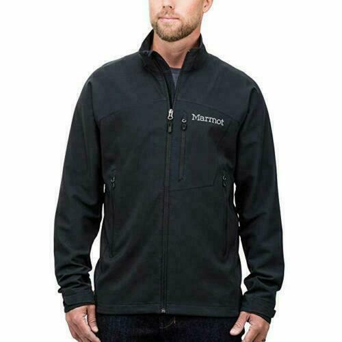 NWT Marmot Men's Bero Softshell Jacket Windproof Black Lar