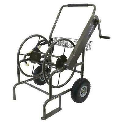 Milwaukee Mobile Hose Reel 250 ft. 2-Wheel Stand Industrial Heavy Duty HC250MILW
