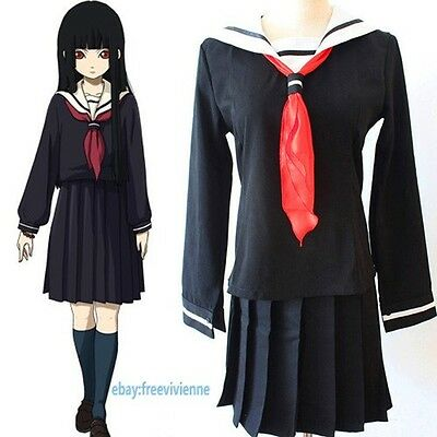 Cosplay Costumes HELL GIRL Enma ai School - Hell Girl Ai Enma Cosplay Kostüm