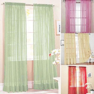Glass Yarn Sheer Window Valance Curtain Pure Bedroom Home Wedding Decor - Wedding Decor Cheap