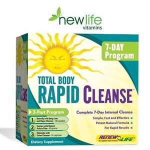 TOTAL BODY RAPID CLEANSE BY RENEW LIFE - COMPLETE 7 DAY INTERNAL CLEANSE