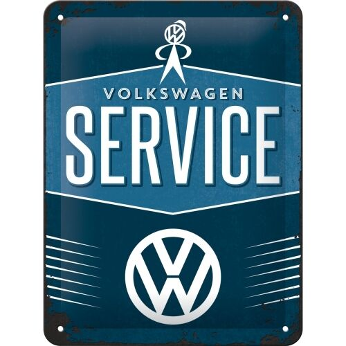 VW  VOLKSWAGEN SERVICE  Blechschild 15x20 cm BULLI T1 T2 T3 T4 BUS SIGN 26184