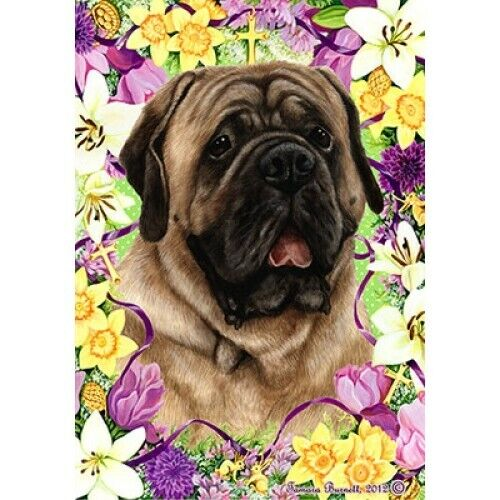 Easter Garden Flag - Fawn Mastiff 331131