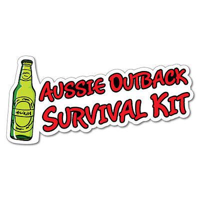 Aussie Outback Survival Kit Sticker Aussie Car Flag 4x4 Funny Ute