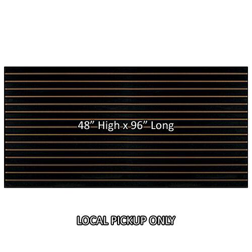 4 ft x 8 ft Slatwall Panel - High Quality Made in USA - Black - LI, NY Pickup