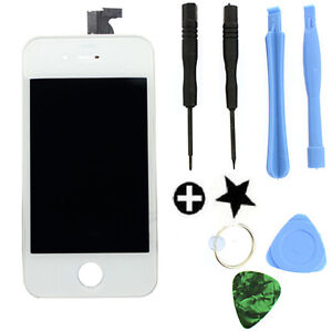 White LCD Digitizer Touch Screen Glass Replacement For Verizon iPhone 4 4G CDMA