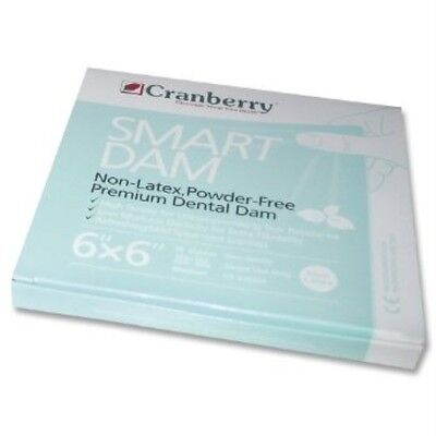 Cranberry Smart Dam Dental Dam Non-latex - Spearmint 6 X 6 15pk