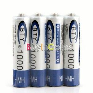12 x Rechargeable AAA 1000mAh 1.2V NI-MH NIMH Battery