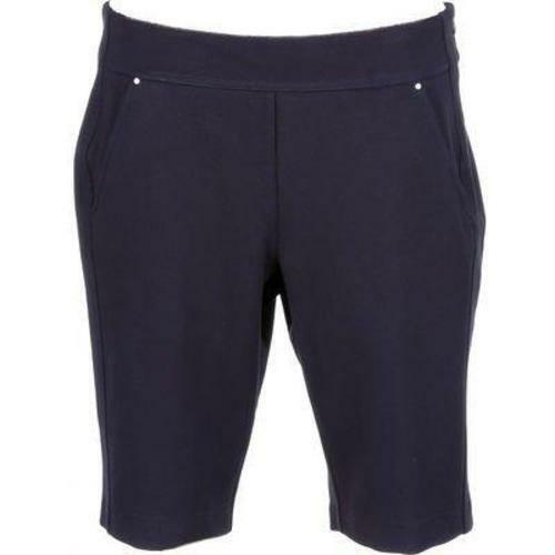 "Greg Norman $69 Ponte Shorts M Navy 34"" x 11"""