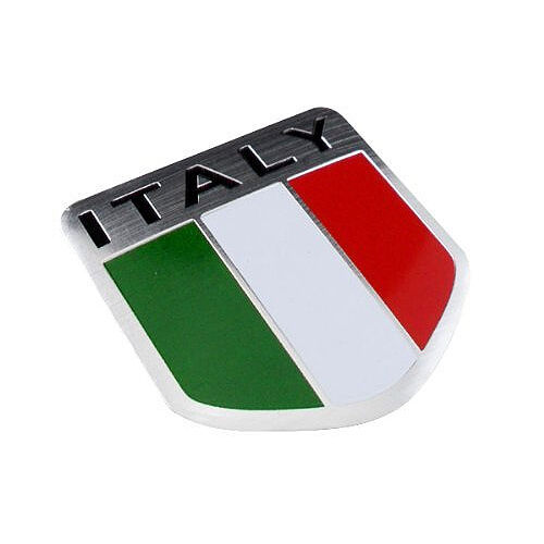 * ITALY FLAG ALUMINUM 3D EMBLEM CAR DECAL STICKER