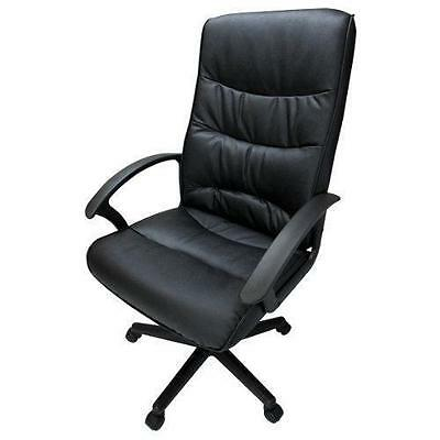 Niceday Malaga Leather Faced Executive Office Chair In Black