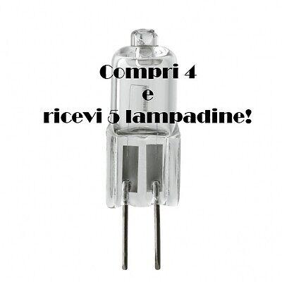 LAMPADINA LAMPADA G4 20W ALOGENA 12V BISPINA SE COMPRI 4 RICEVI 5 new