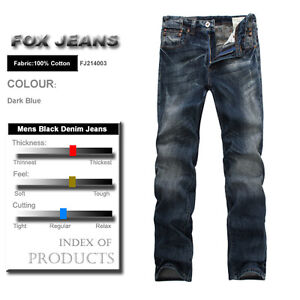 NEW-MENS-FOXJEANS-DENIM-MENS-BLUE-JEANS-SIZE-40