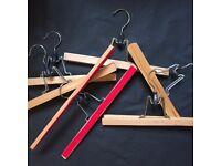 Job lot wooden trouser hangers - approx 40 pieces