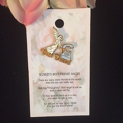 ANGEL PIN TO GIVE TO YOUR BEST FRIEND AND SHE COMES WITH A THOUGHTFUL