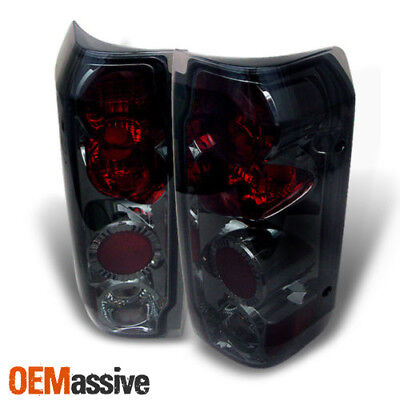 Smoked 89-96 Ford F150 F250 Bronco Pickup Tail Lights Lamps 1989-1996 Left+Right