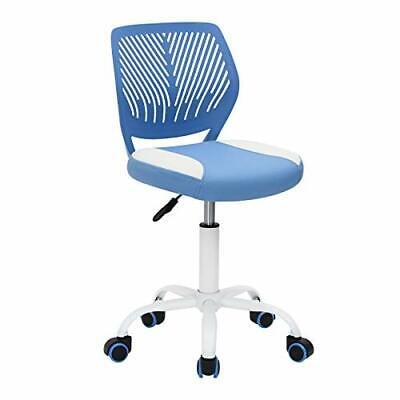 Greenforest Desk Chair For Kids Swivel Computer Chair With Pu Blue White