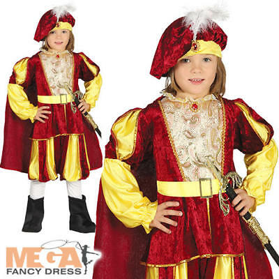 Prince Boys Fancy Dress Royal Fairy Tale Kids King World Book Day Costume Outfit