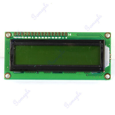 1602 16x2 Hd44780 Character Lcd Module Display Controller Yellow Green Backlight