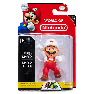 Jakks Pacific   World Of Nintendo   Articulated Figure   Fire Mario  2 5 Inch
