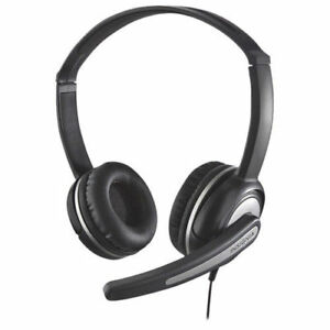 Insignia Headset On-Ear Headphones With Flexible Boom Microphone