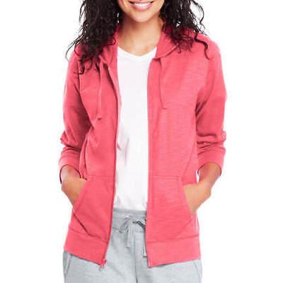 Hanes Women's Slub Jersey Hoodie Briny Pink L