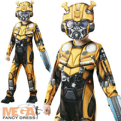 Deluxe Bumblebee Boys Fancy Dress Transformers Kids Superhero Costume Outfit