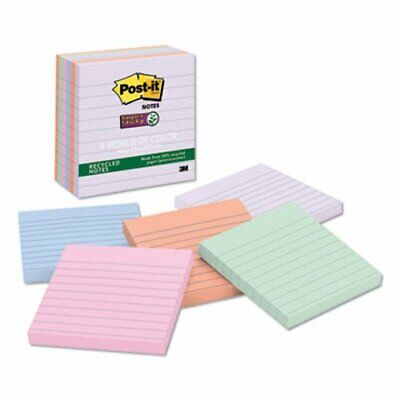 Post-it Farmers Market Super Sticky Notes 4 X 4 Lined 6 Pads Mmm6756ssnrp